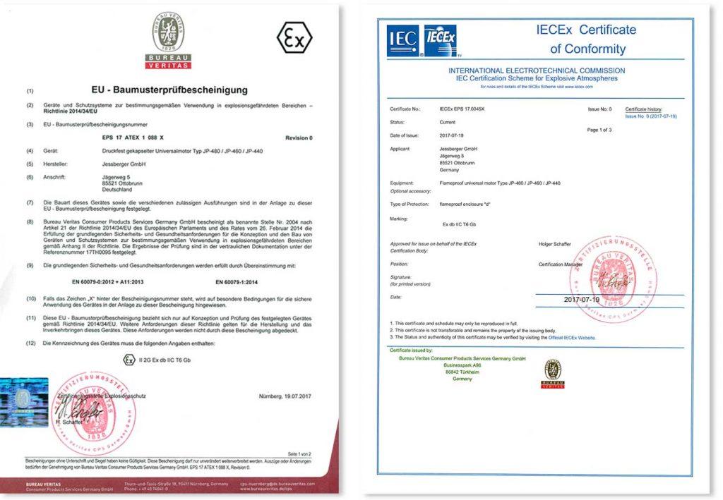 IECEx ATEX JP 440 460 Und 480